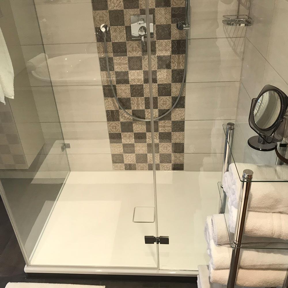 Dusche schachbrettmuster